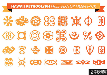 Hawaii Petroglyph Free Vector Mega Pack - Free vector #370533