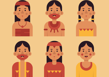 Vector Inca People - бесплатный vector #370543