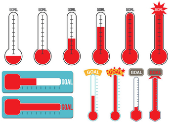 Goal Thermometer Vector - Free vector #370563