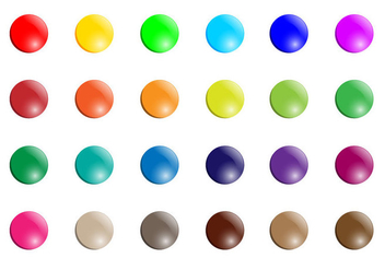 Smarties Button Vector - Free vector #370583