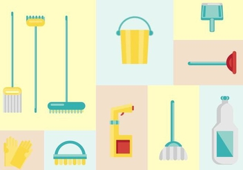 Free House Cleaning Vectors - vector gratuit #370623