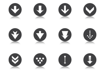Down Grade Arrow Button Vector Pack - Kostenloses vector #370753