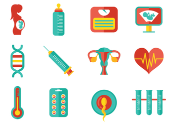 Free Pregnant Mom and Maternity Icons - vector gratuit #370763