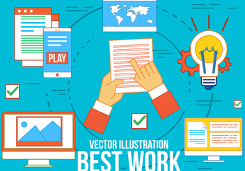 Free Best Work Vector Icons - vector gratuit #370793