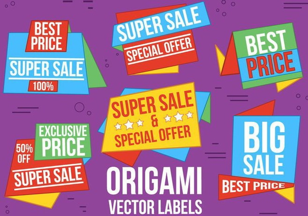Free Origami Vector Sale labels - Free vector #370803