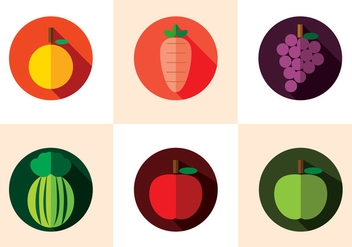 Fruit Fridge Magnet Vector - vector gratuit #370823