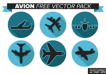 Avion Free Vector Pack - vector #370843 gratis