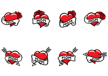 Free Mom Tattoo Vector - vector #370853 gratis
