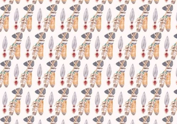 Free Vector Watercolor Native American Pattern - Free vector #370973