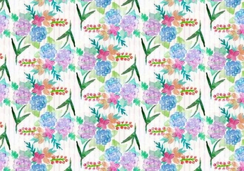 Free Vector Watercolor Floral Background - бесплатный vector #371003