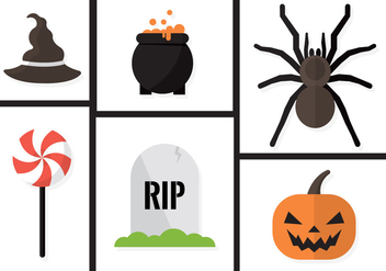 Halloween Vector Elements - Free vector #371053