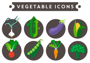 Vegetable Vector Icons - бесплатный vector #371113