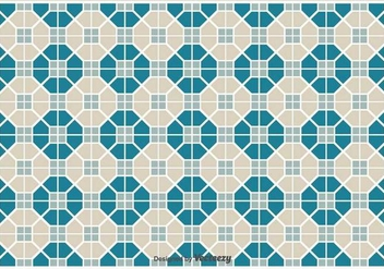 Simple Vector Pattern/Tiles With Geometric Shapes Pattern - vector gratuit #371163