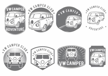 VW Camper Badge Set - бесплатный vector #371203