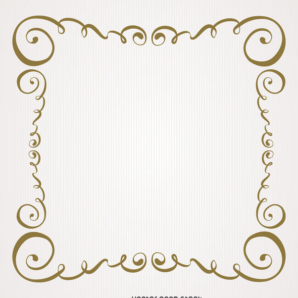 Vintage Gold Swirls Frame Free Vector Download 371223 ...