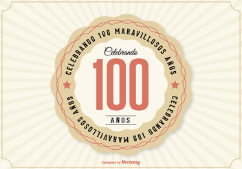 100th Aniversario Illustration - бесплатный vector #371333