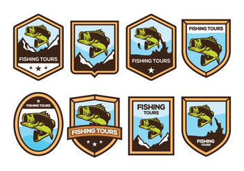 Free Bass Fish Badge Vector - Free vector #371343