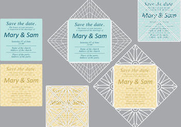 Laser Cut Invitations - vector gratuit #371353