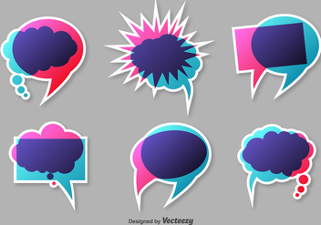 Colourful Speech Vector Bubbles - Free vector #371393
