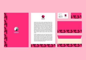 Free Pink Vector Letterhead Design - Free vector #371413
