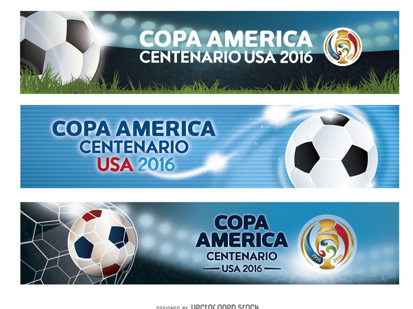Banners Copa America USA 2016 - Free vector #371463