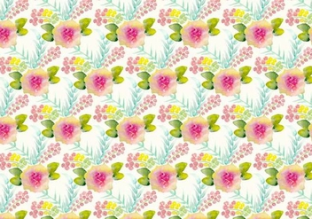 Free Vector Watercolor Floral Background - Free vector #371513