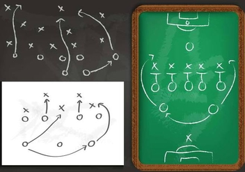 Playbook Chalkboard Vector - Free vector #371543