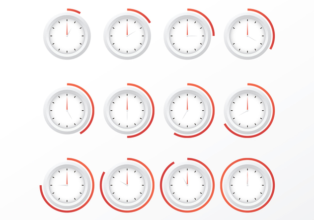 Free Clocks Vectors - Free vector #371553