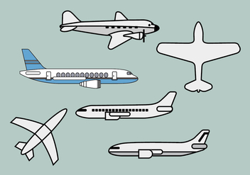 Avion vector illustrations 1 - Free vector #371673