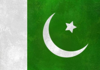 Free Vector Pakistan Flag On Watercolor Texture - Kostenloses vector #371693