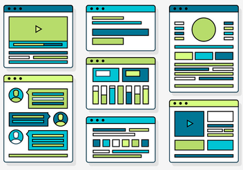 Free Web Design Vector Elements and Icons - Free vector #371703