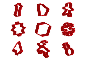 Christmas Cookie Cutter - vector gratuit #371713