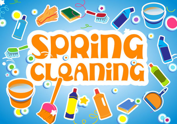 Spring Cleaning vector illustration - бесплатный vector #371873