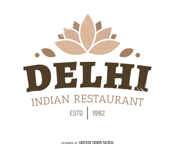 Indian food logo - бесплатный vector #371963