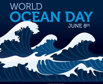 World Ocean Day poster - бесплатный vector #371983