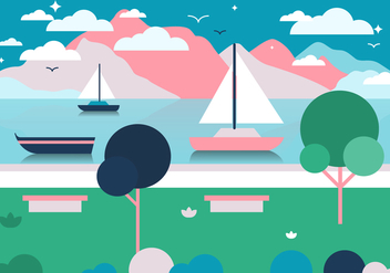 Free Landscape Vector Illustration - бесплатный vector #372073