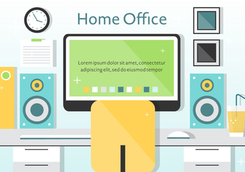 Free Vector Home Office Illustration - Free vector #372193