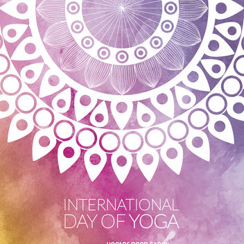 Yoga Day mandala design - vector gratuit #372313