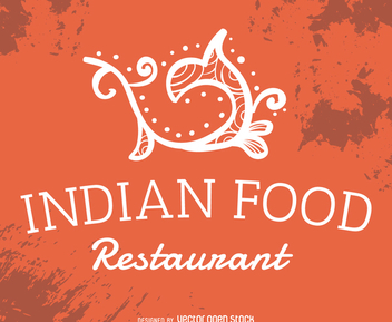 Indian food restaurant label - Free vector #372363