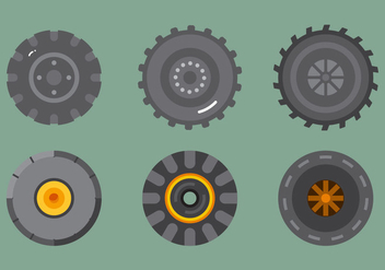 Free Tractor Tire Vector 2 - Free vector #372423
