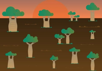 Free Baobab Trees Vector - Free vector #372433