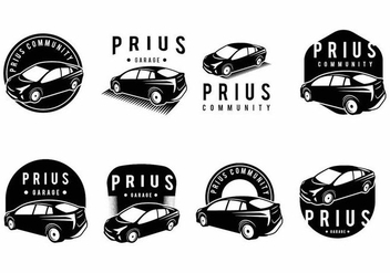 Prius Badge Set - Kostenloses vector #372453