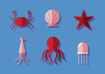 Vector Ocean Animals - vector gratuit #372583