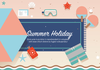 Free Summer Holiday Vector - vector gratuit #372673
