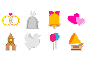 Free Wedding Icon Vector - vector #372833 gratis