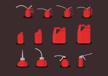 Red Oil Can - vector gratuit #372843