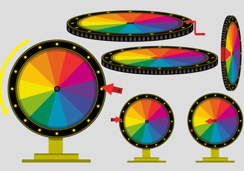 Try Your Luck Spinning Wheel Vectors - Free vector #372873