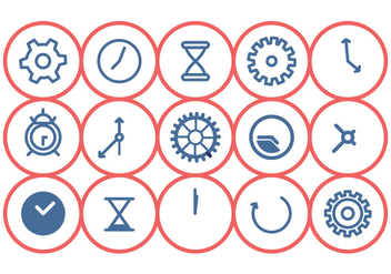 Clock Icon Set - vector gratuit #372913