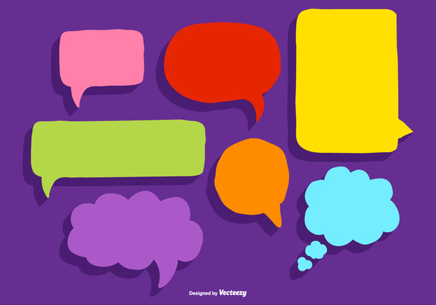 Speech Bubble Callout Vectors - Free vector #372943