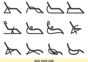 Deck Chair Icon - Free vector #373013